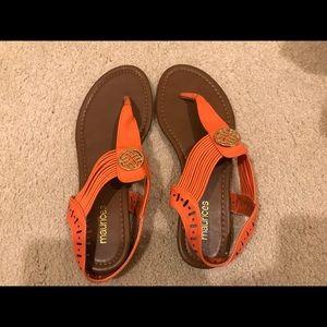 Maurices orange sandals